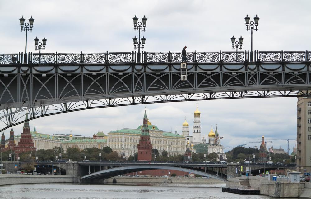 Kremlin koepels Patriarch brug Moskou Moskva