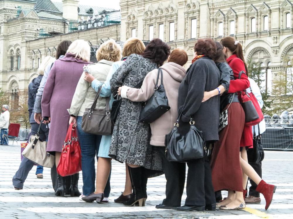 Russische vrouwen Rusland Moskou Rode Plein foto poseren