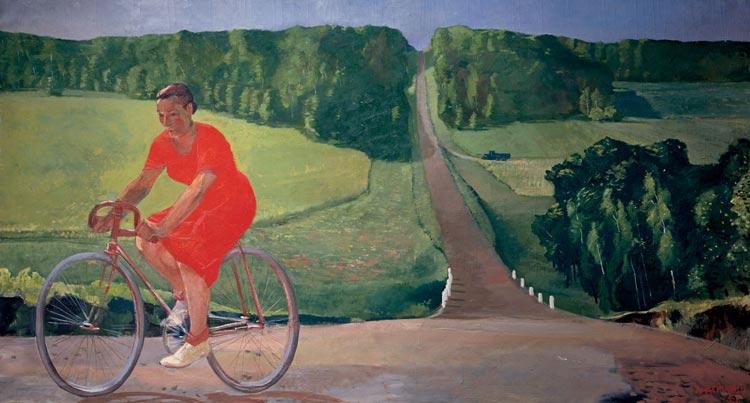 Deineka fiets socialistisch realisme schilderkunst Sovjetunie