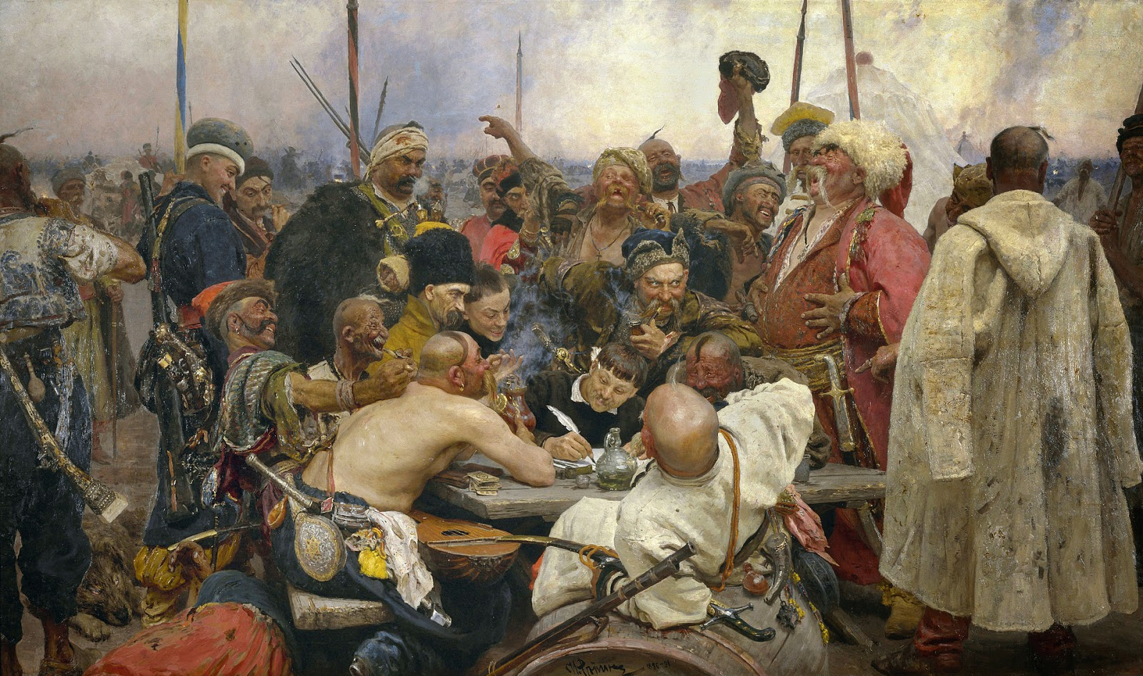 Ilja Repin Kozakken brief sultan