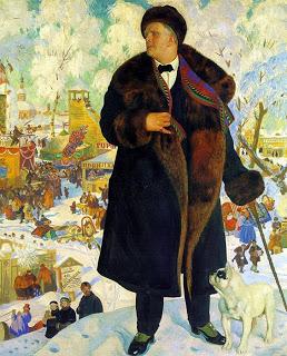 Boris Koestodijev 1922 portret van de zanger Fjodor Sjalapin