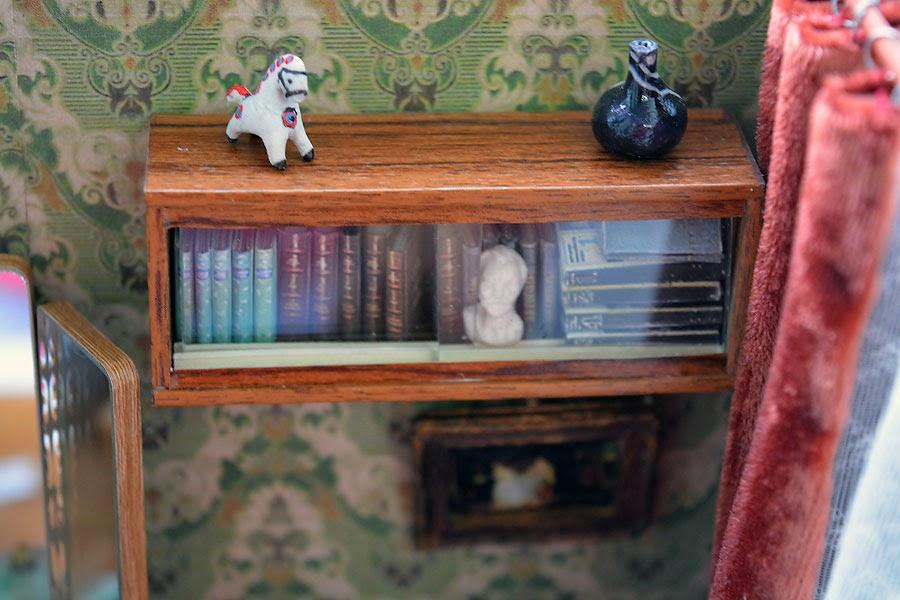 Jesenin Poesjkin London boekenkast Rusland Sovjetunie interieur