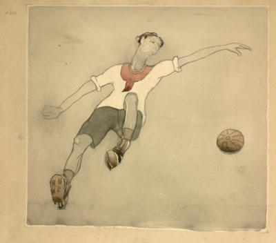 tekening Aleksandr Nikolski voetballer