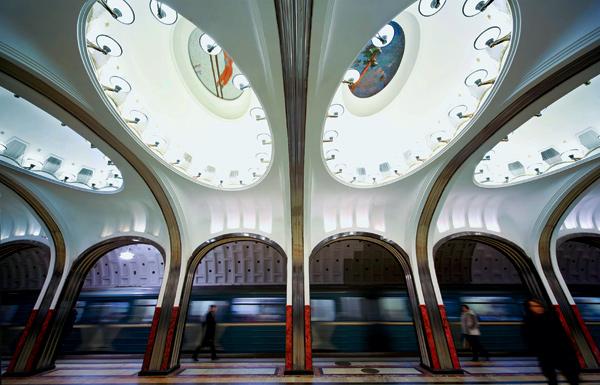 Majakovskaja metro Frolov zeppelin mozaïek