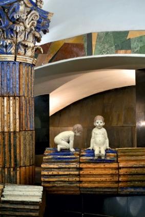 Romulus Remus metro Moskou station Rimskaja