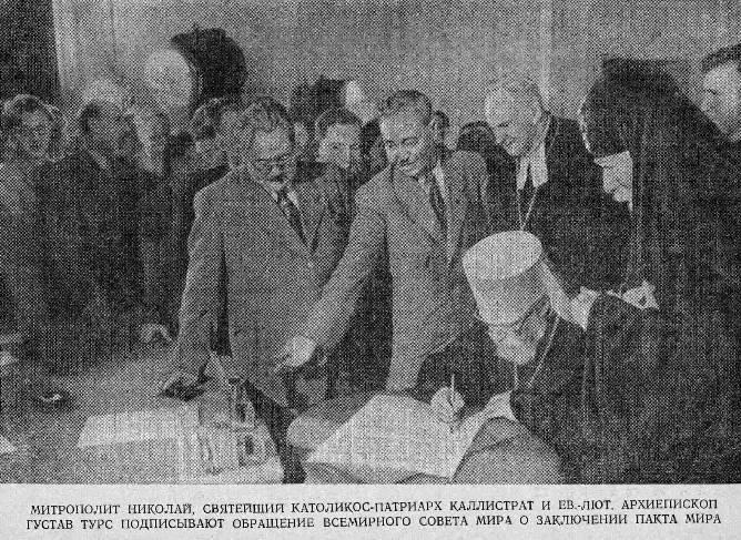 ondertekening vredespact fotografie Sovjetunie USSR