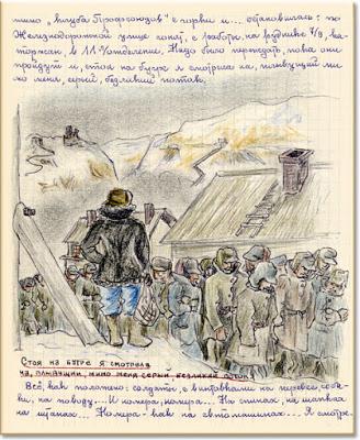 Kersnovskaja tekeningen Goelag kampen
