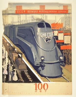 treinen locomotief Stalin spoorwegen Rusland
