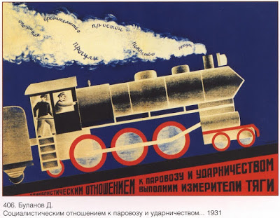 posters propaganda economie treinen Rusland Sovjetunie
