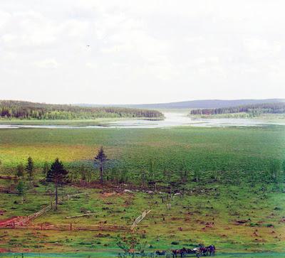Tsjoesova foto's Rusland Prokoedin-Gorski kleur collectie