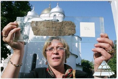 Een opgegraven briefje in Novgorod