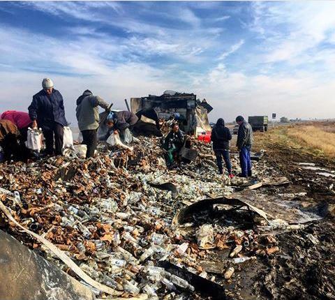 Rusland ongeluk verkeer wodka dorp