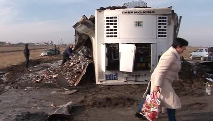 Maloperekopnoje vrachtwagen wodka ongeluk Rusland
