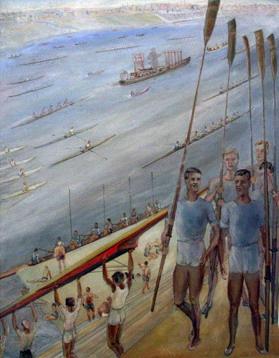 Carnaval op de rivier de Moskva. (1932)