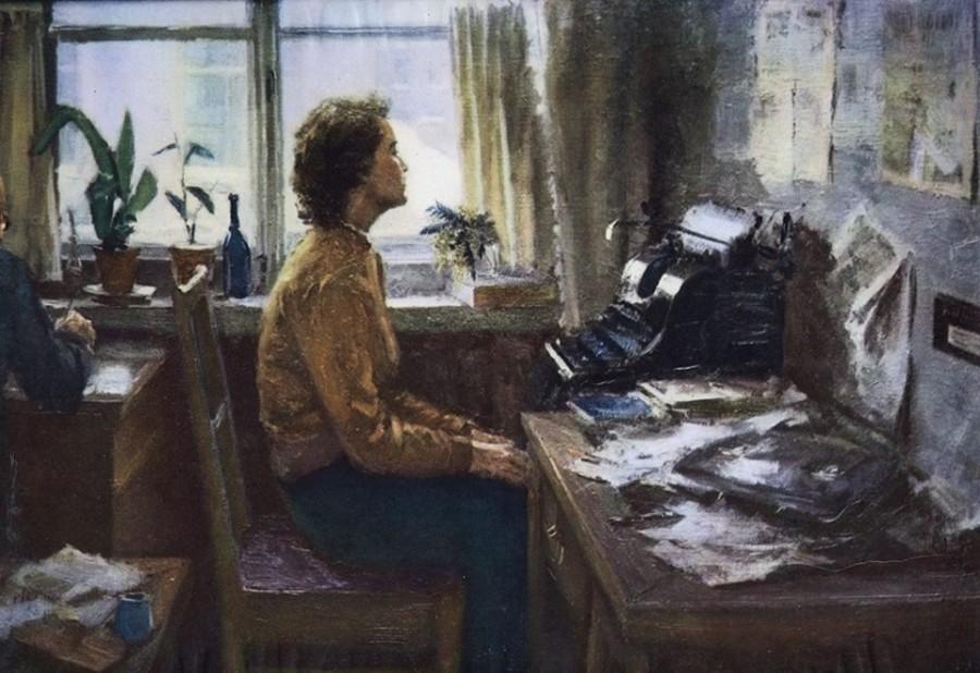 Typiste Russisch schilderij Korzjev