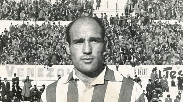 Agustín Gómez in het shirt van Atlético Madrid