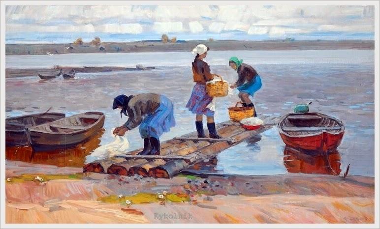Michail Laritsjev - Aan de noordelijke rivier (jaar?)