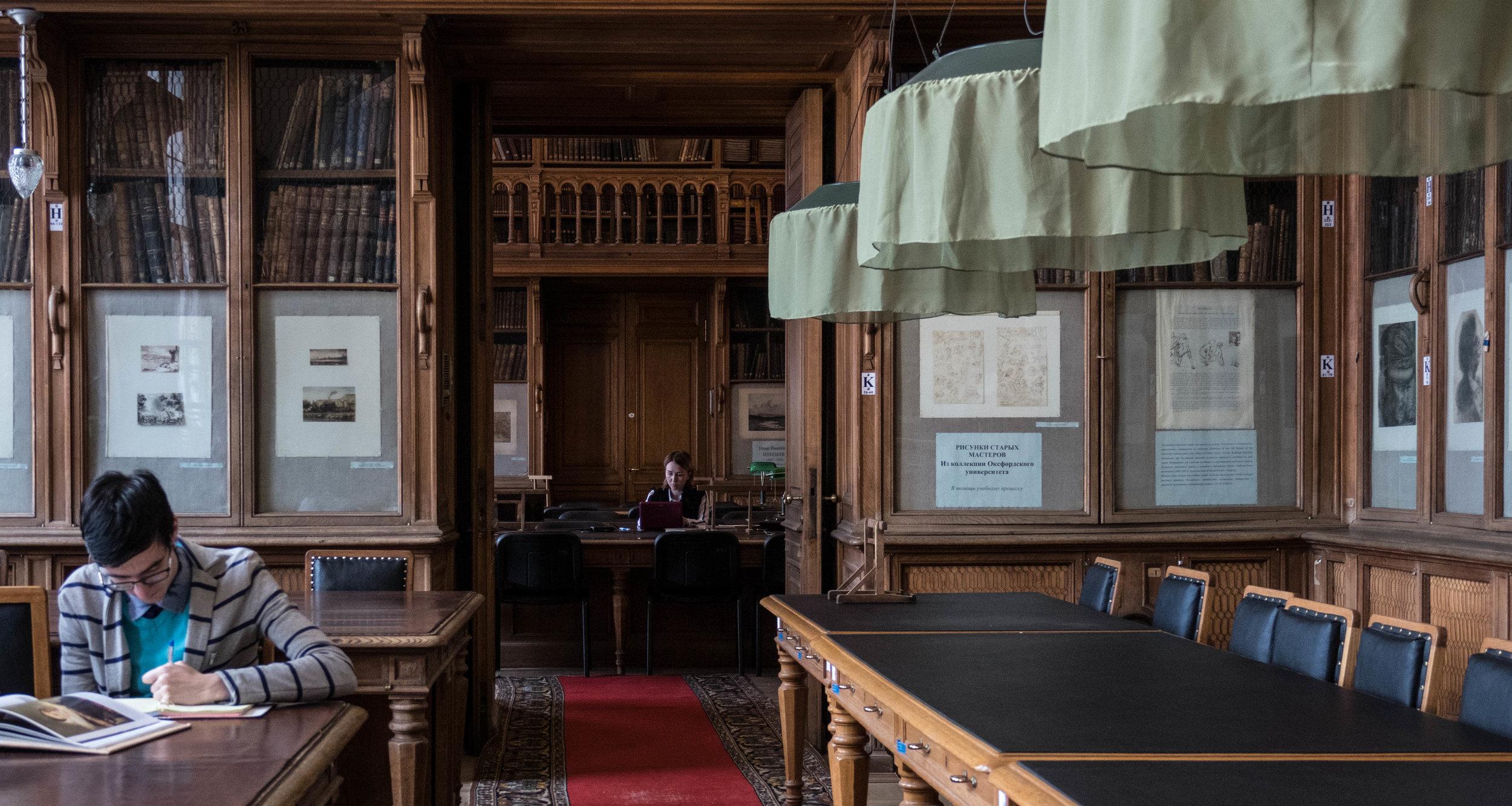 De bibliotheek van de Kunstacademie. Over mijn bezoek daar schreef ik een  apart stukje .