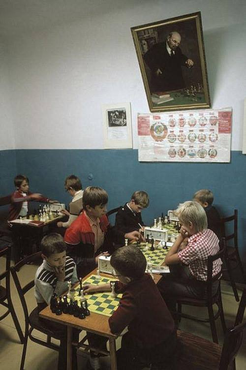 """""""Chess tournament in Yalta"""", photo by Bruno Barbey, 1988."""