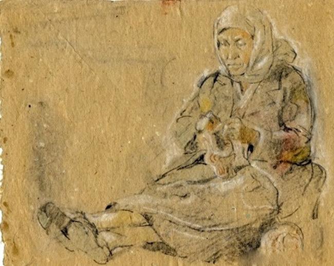 За вязанием» 1942.jpg