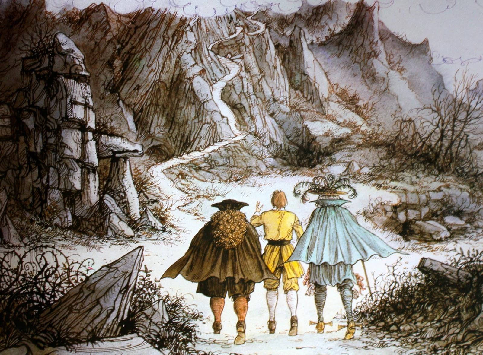 Dangerous Journey  , illustration by Alan Parry.