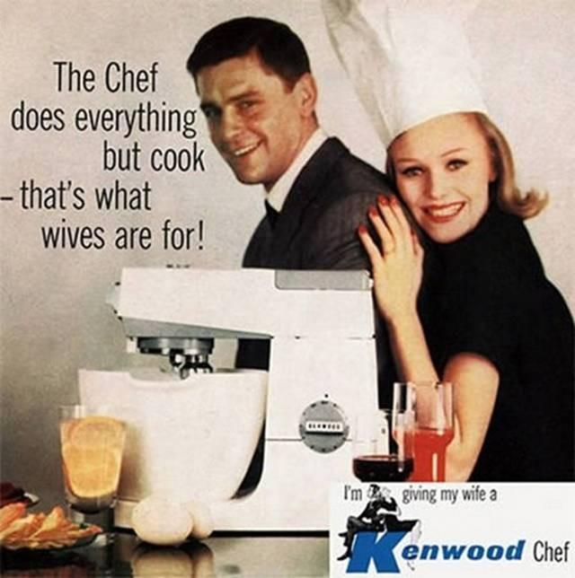 1961 ad for Kenwood Chef mixer