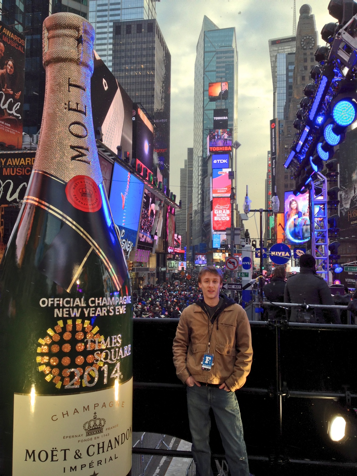 New Year's Eve Ball Drop in Times Sqquare.