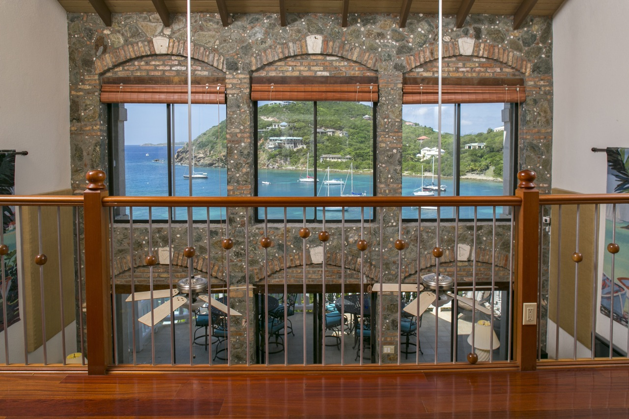 The grand entry view from the main villa.  With 6 bedrooms, Villa St John has the space you need for large groups and families on St John