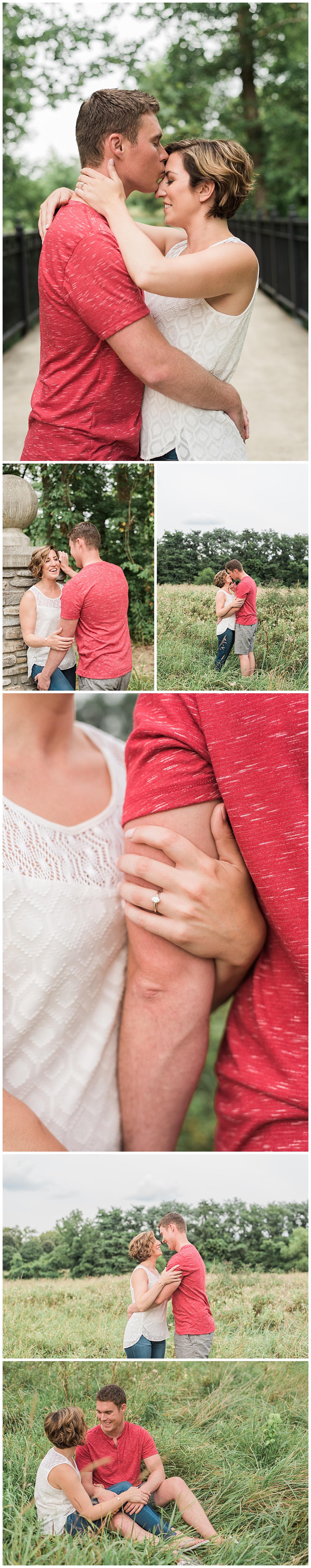 jamie and dave's engagement glenwood gardens cincinnati ohio