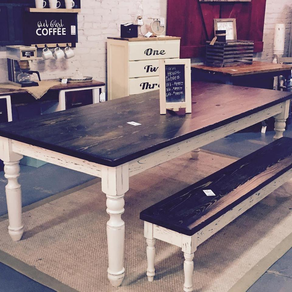 Farm style tables come in many shapes and sizes, which gives you the opportunity to find one that fits your personal style and size needs.     Photo from: Funky Refurbished