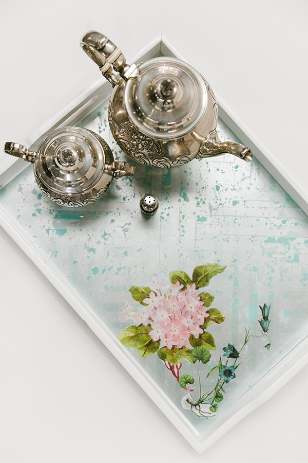 Photo by: Amy Howard Home http://www.amyhowardhome.com/blog-list/2016/4/8/decoupage-tray