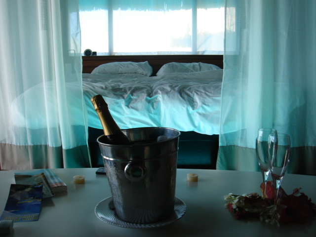 Our hut in Bora Bora. Go to the homepage under Travel to see more!!