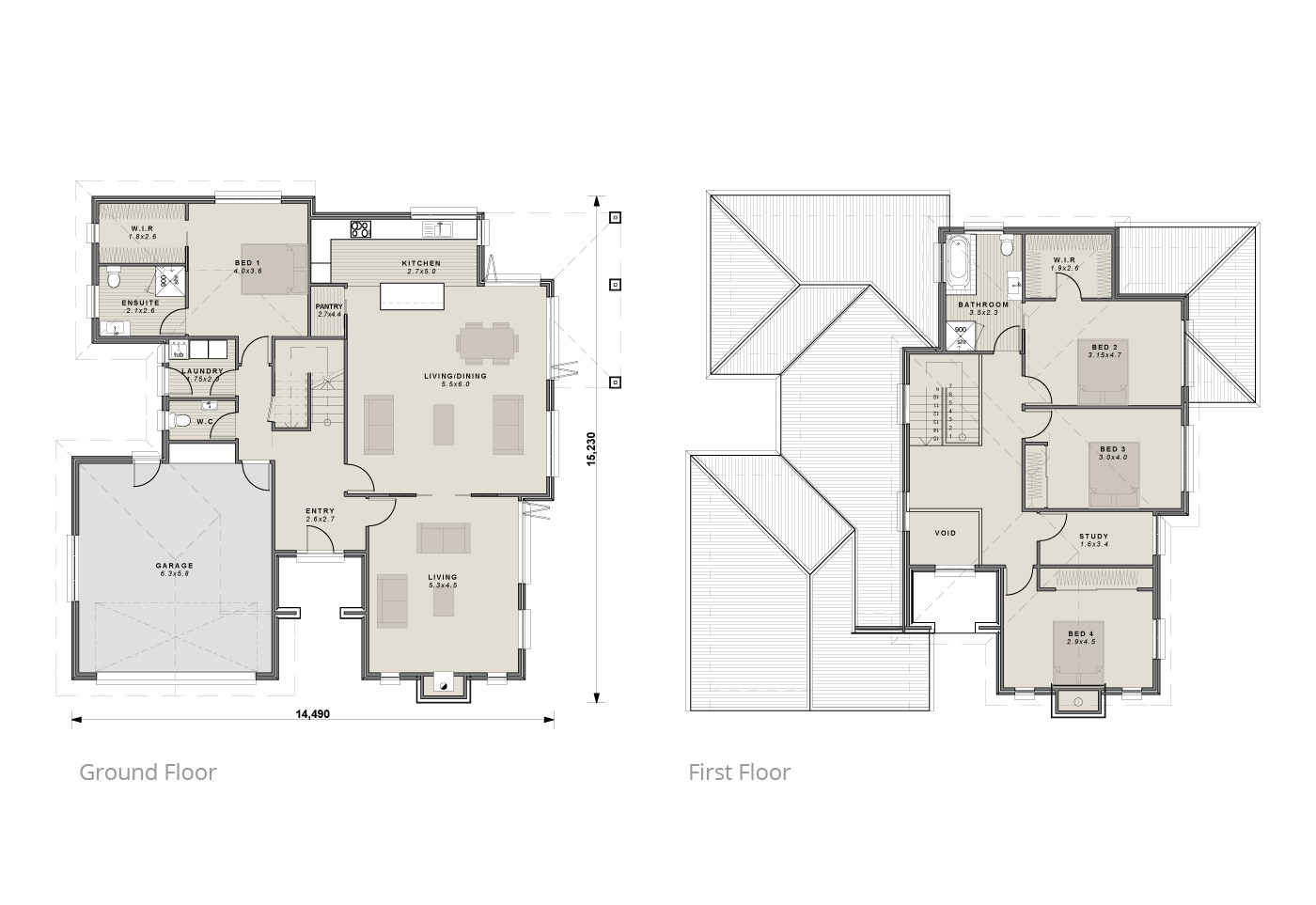 The Brahms floor plan