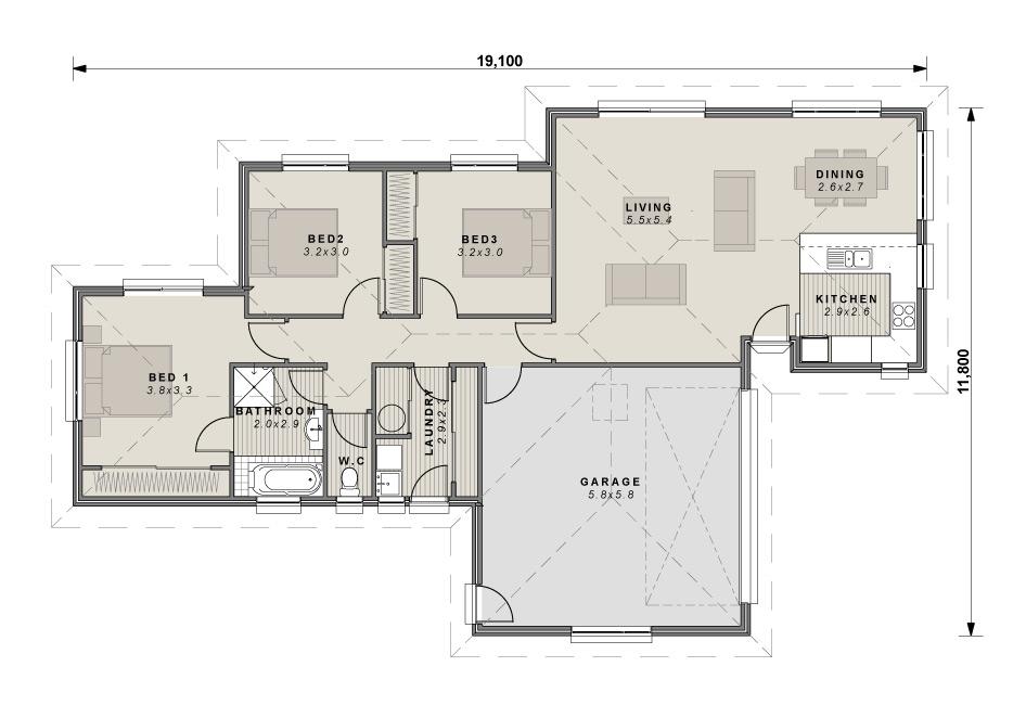 The Hatfield floor plan