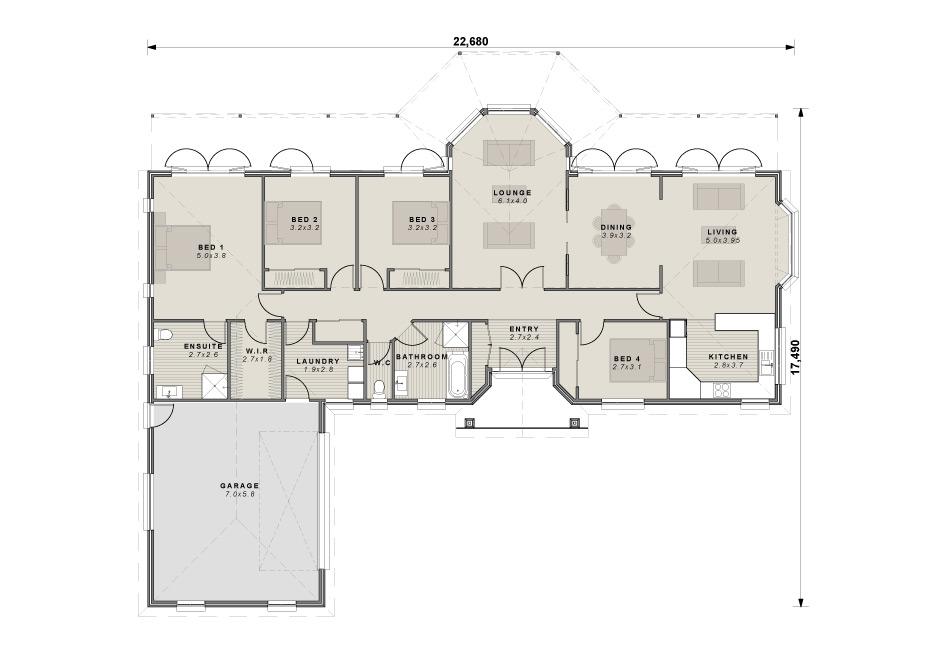 The Lyndhurst floor plan