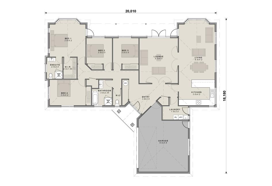 The Oakleigh floor plan