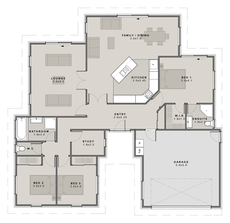The Akaroa Floorplan