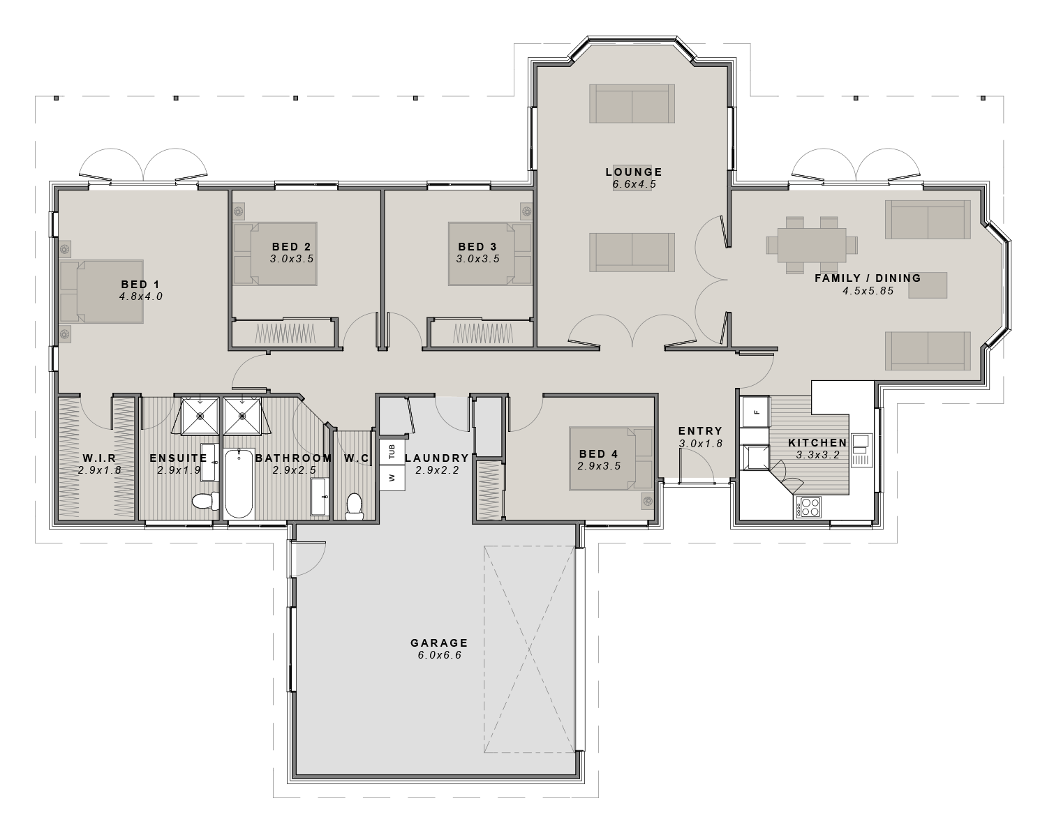 The Ashley Floorplan