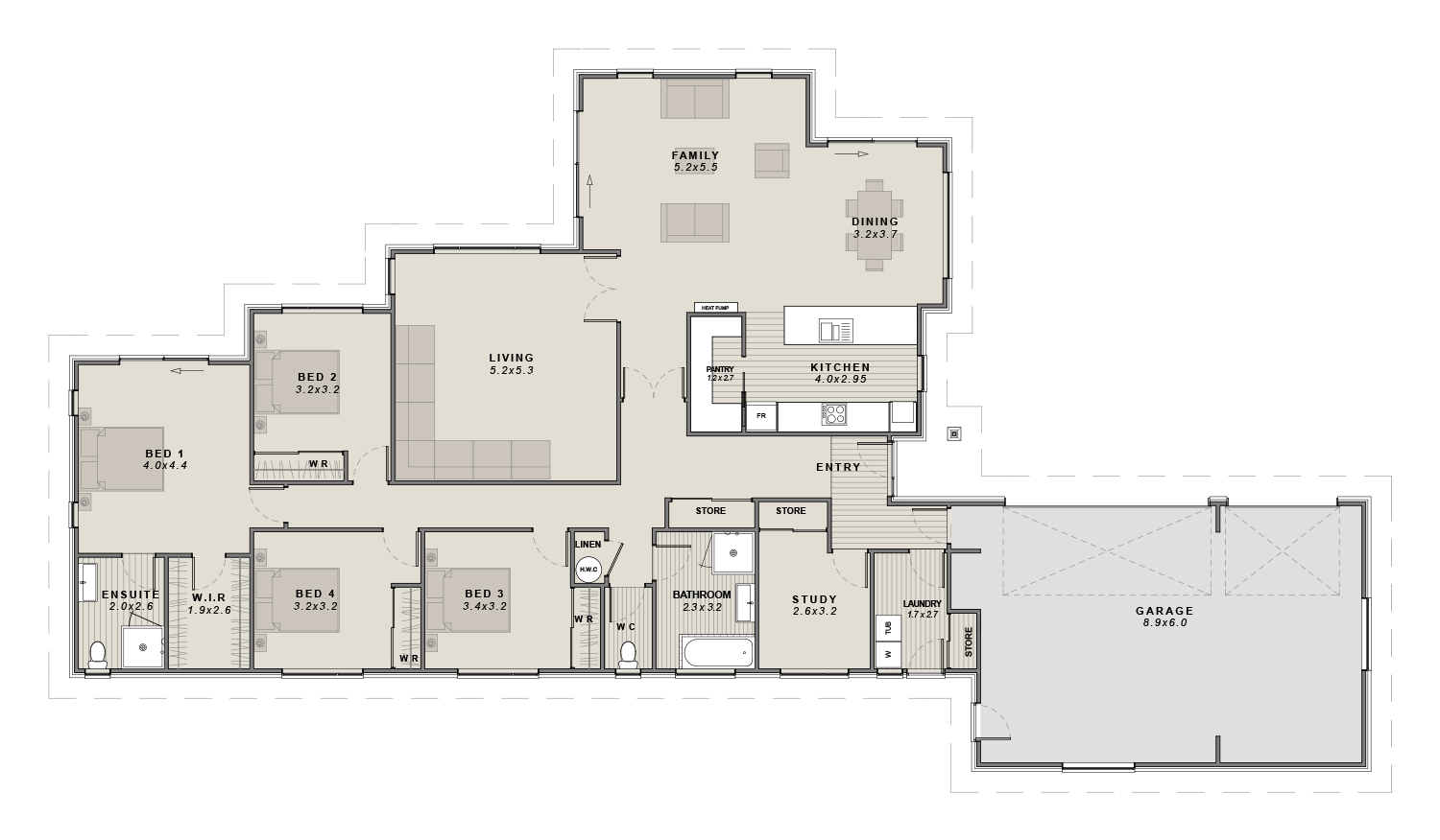 The Brookside Floorplan