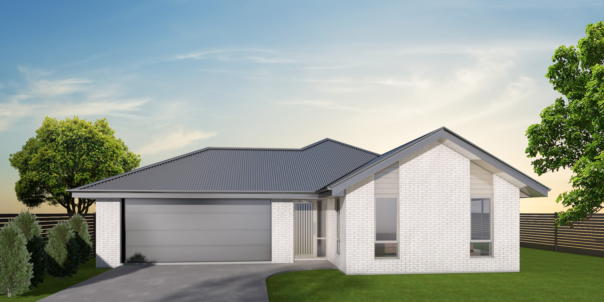 - The Leeston's efficient floor plan includes three bedrooms, two bathrooms and a separate toilet. The centrally located office space is ideal for studying or working from home. With lots of street appeal, this is a home you will be proud to call your own.