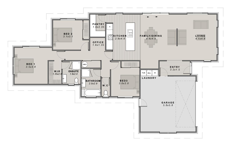 The Leeston Floorplan