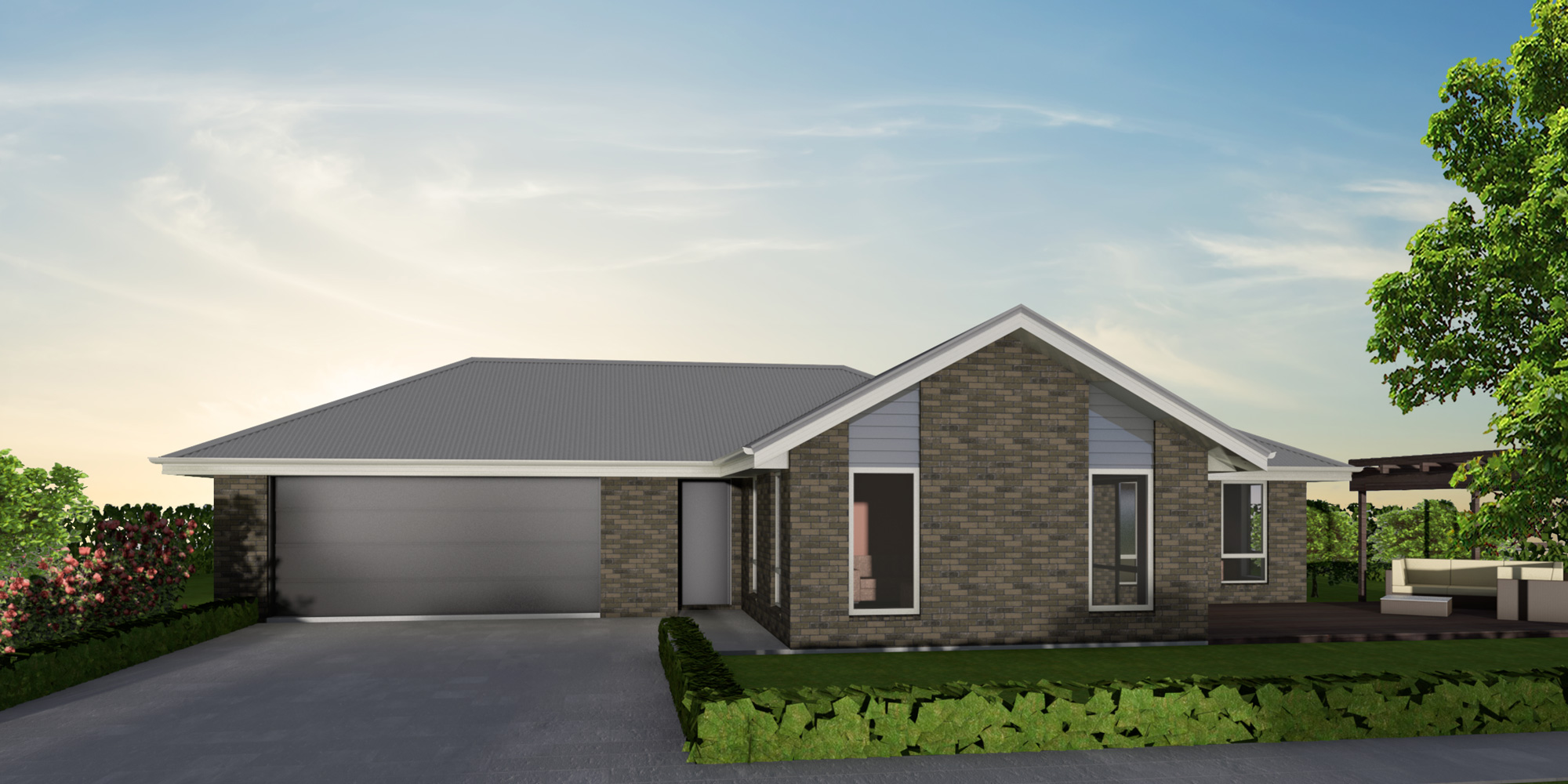 - This roomy home is designed to capture all day sun. With a designer kitchen including walk-in pantry, open plan free-flowing living, four bedrooms and a study nook, all of your family's needs will be met.