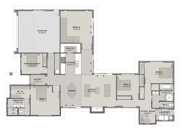 The Ohoka Showhome Floorplan