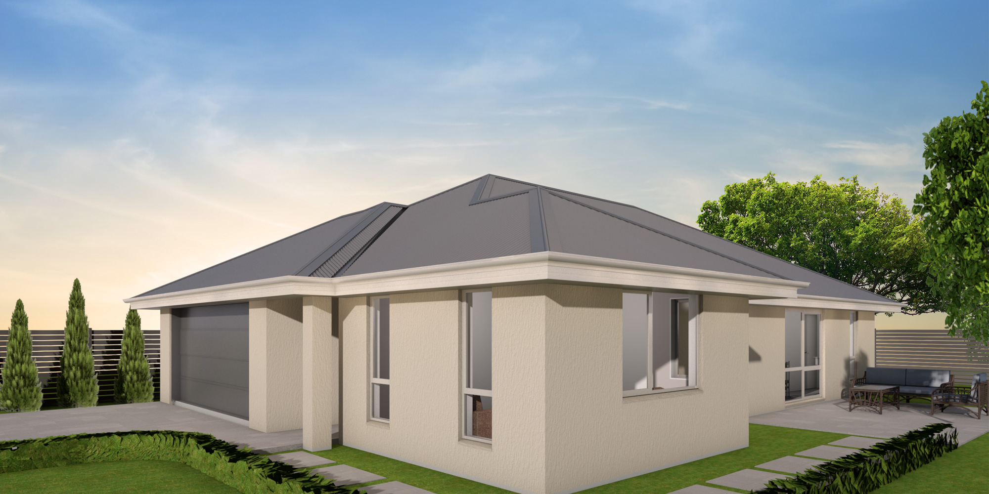 - This home's 170m² floor plan allows you to make the most of your site. With a walk-in pantry, open plan living plus a separate lounge and an ensuite and walk-in wardrobe in the master bedroom what more could you possibly want?