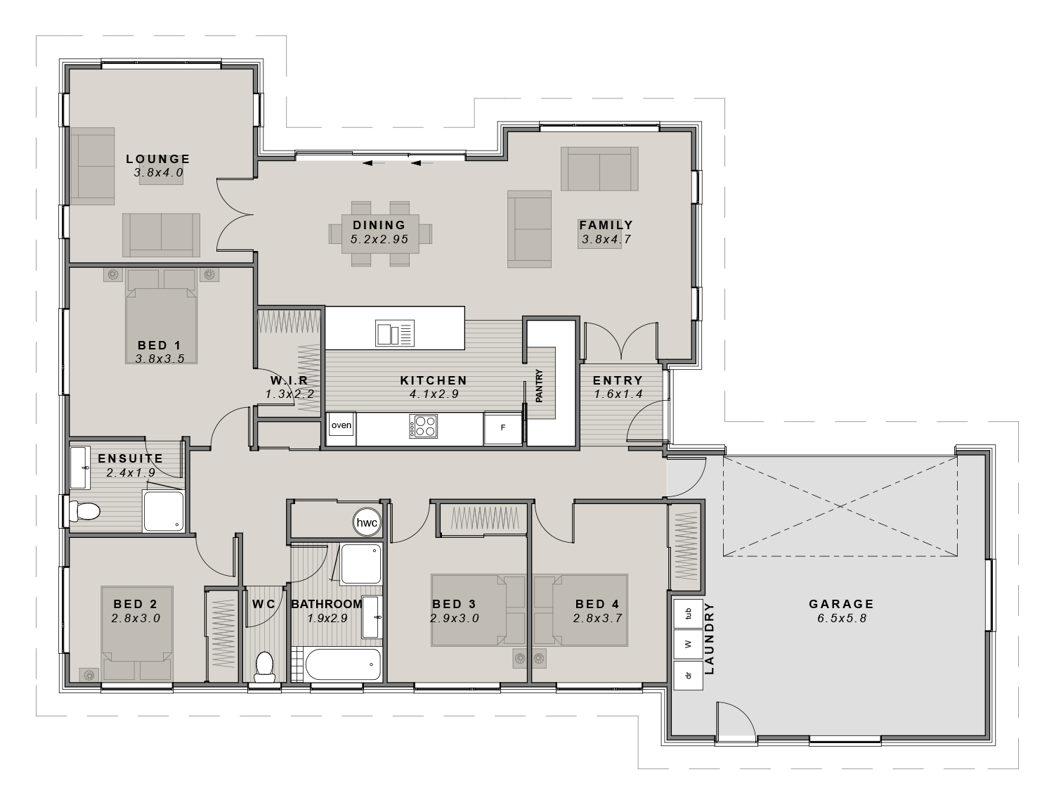 The Lincoln Floor plan
