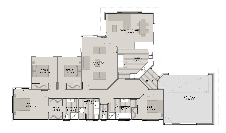 The Fernside Floor plan