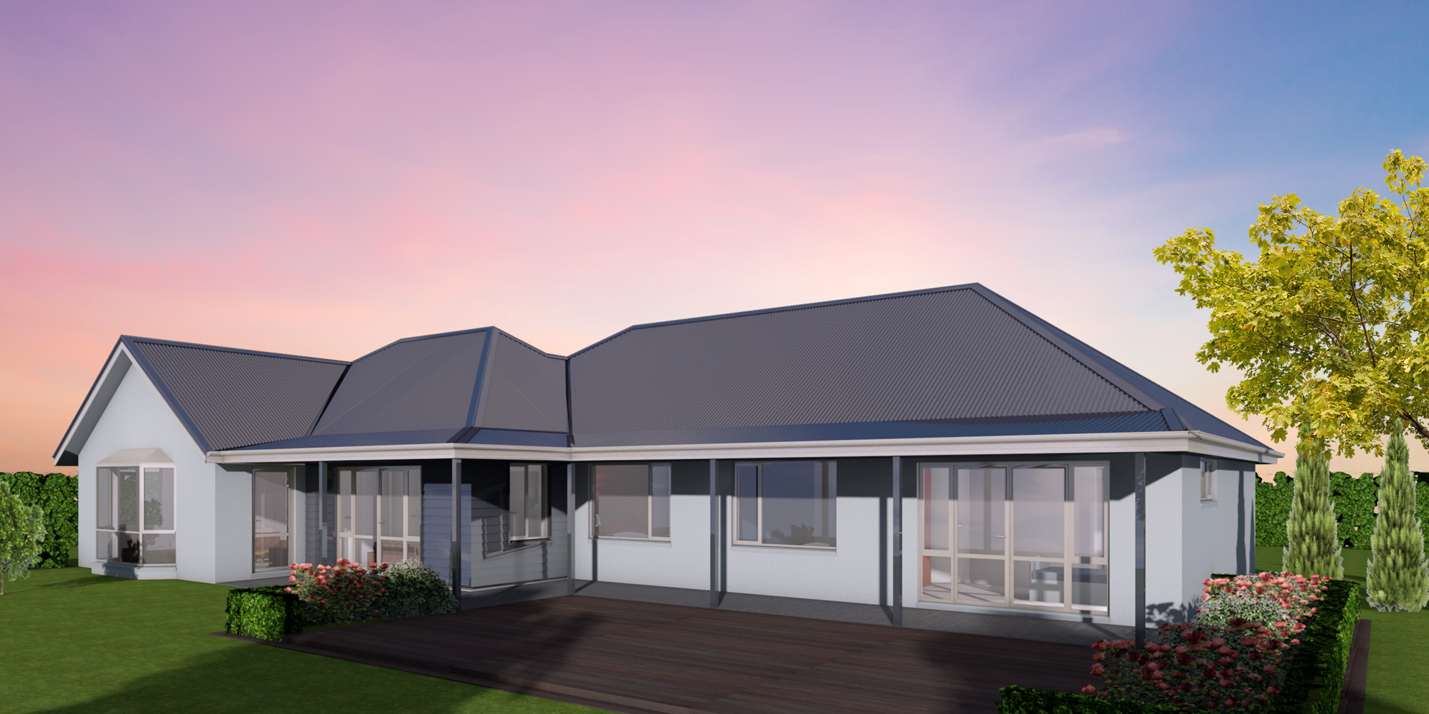 - The Oxford is a home that you will enjoy living in all day. Both the master bedroom and the living area open out onto the verandah so that you can start your day there with a morning cuppa and relax in the evening with a glass of whatever you prefer.