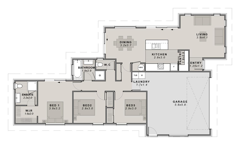 The Lemonwood Floorplan