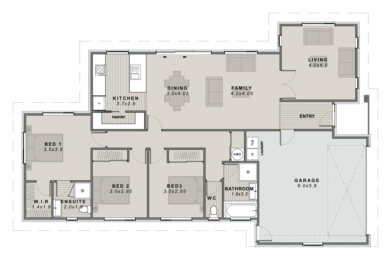 The Wigram Floor plan