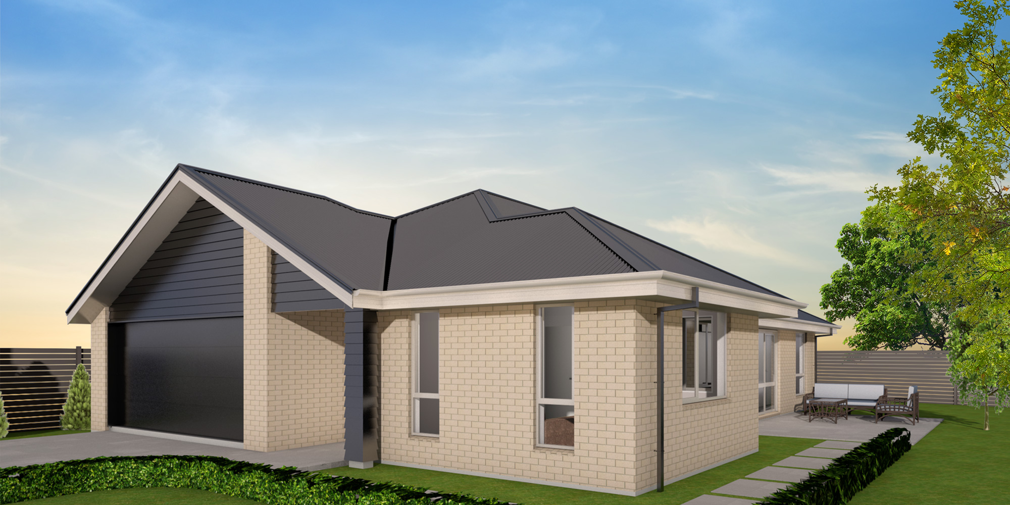 - The Wigram features an open plan kitchen, dining and family area; ideal for entertaining. The separate living area offers privacy whist still allowing plenty of light through the designer double french doors.